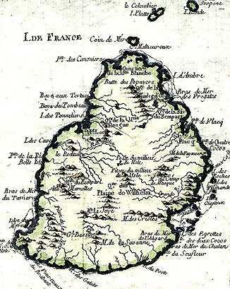 Old Map of Mauritius